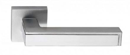 Frascio 610/50QSCP/PCP Pinax Door Handle On Square Rose Satin/Polished Chrome